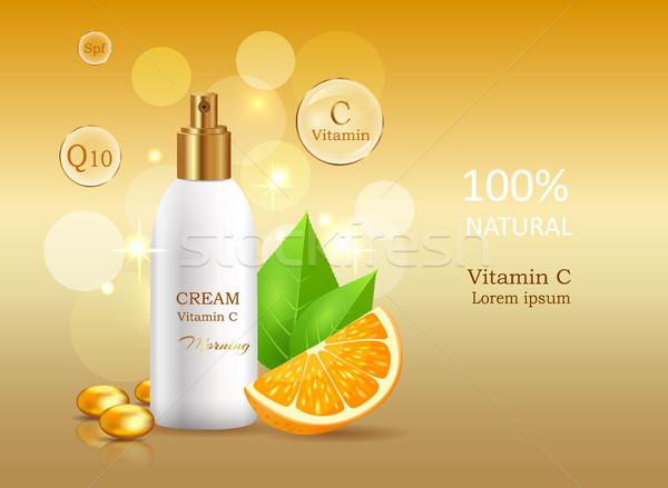 Krém nap faktor c vitamin természetes bank Stock fotó © robuart