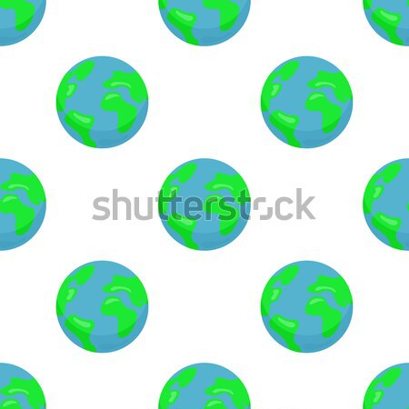 Seamless pattern with Earth planet Stock photo © robuart