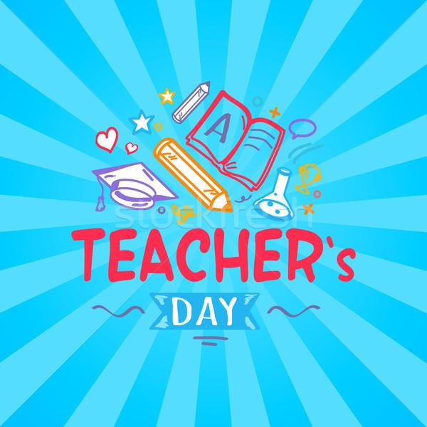 Teachers Day Promo Poster Vector Illustration Stock photo © robuart