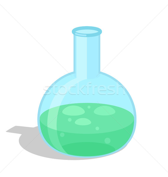 Chemical Flask with Green Substance Vector Icon Stock photo © robuart