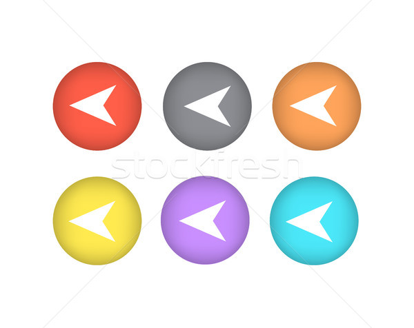 Pointers Directed to Left Iand Right Icons Circle Stock photo © robuart
