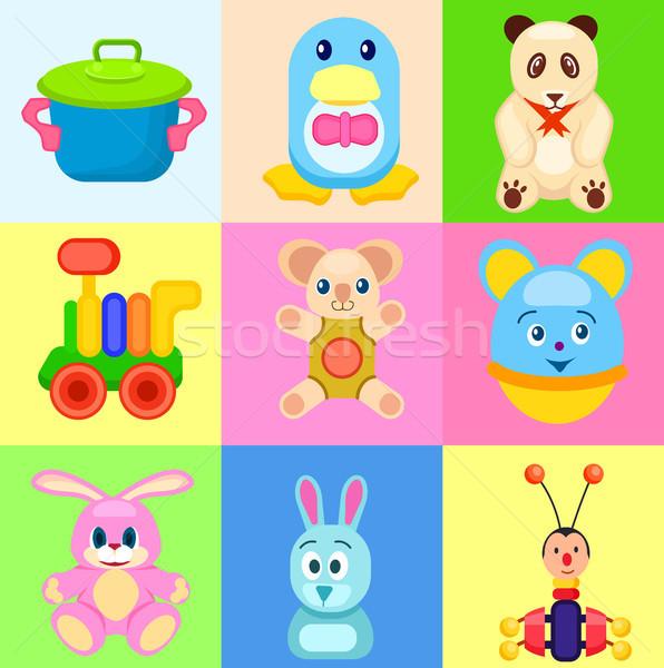 カラフル おもちゃ 明るい 正方形 セット おもちゃ ストックフォト © robuart