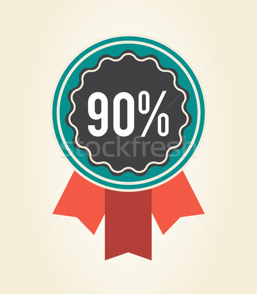 90 Sale Clearance Sign Icon Vector Illustration Stock photo © robuart