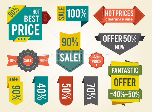 Hot Prices Sale Clearance Vector Illustration Stock photo © robuart