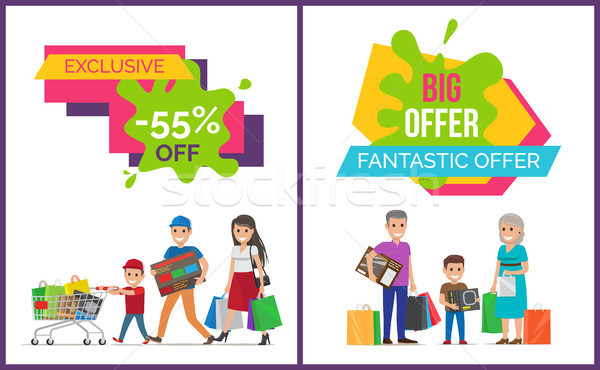 Exclusive Sale Fantastic Offer Vector Illustration Stock photo © robuart