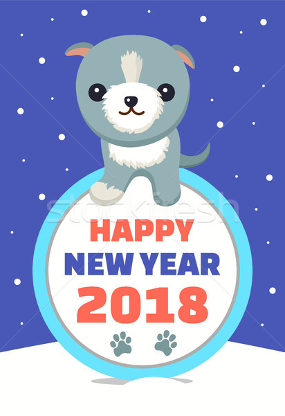 Happy New Year Wintertime Vector Illustration Stock photo © robuart