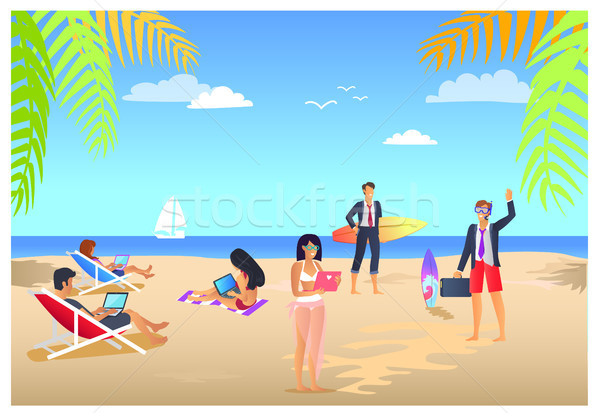 Business Summer Vacations Vector Illustration Stock photo © robuart
