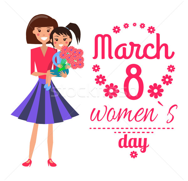 March 8 Womens Day Poster Vector Illustration Stock photo © robuart