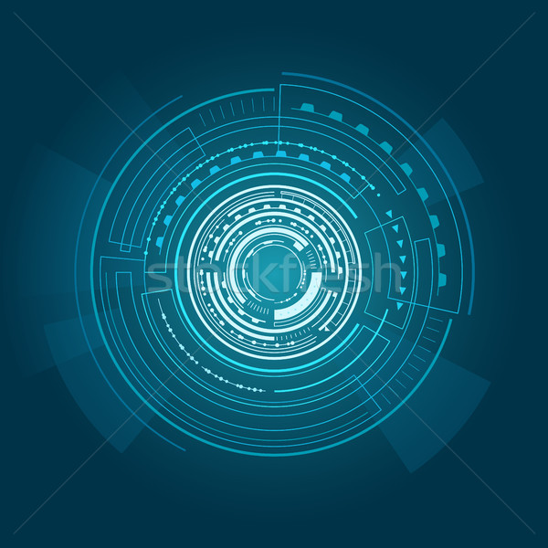 Interface Poster of Blue Color Vector Illustration Stock photo © robuart