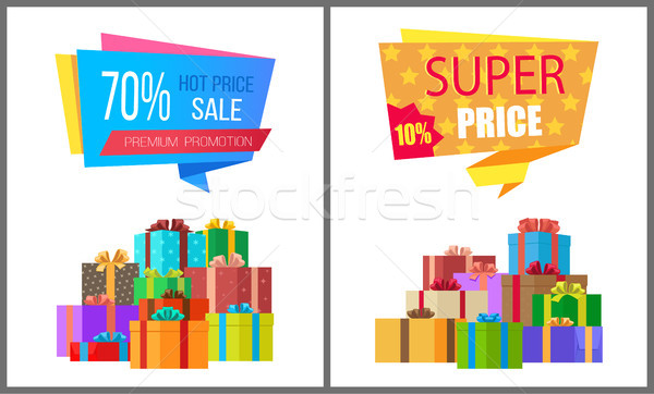 Premium Promotion Hot Prices Sale Super Special Stock photo © robuart