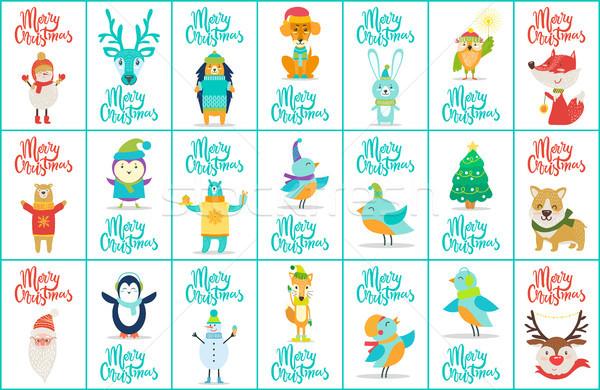 Merry Christmas Big Collection Vector Illustration Stock photo © robuart