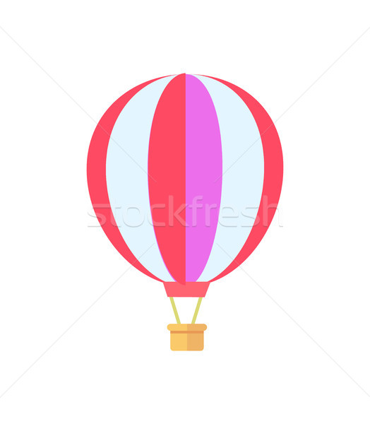 Stockfoto: Luchtballon · witte · poster · object · patroon