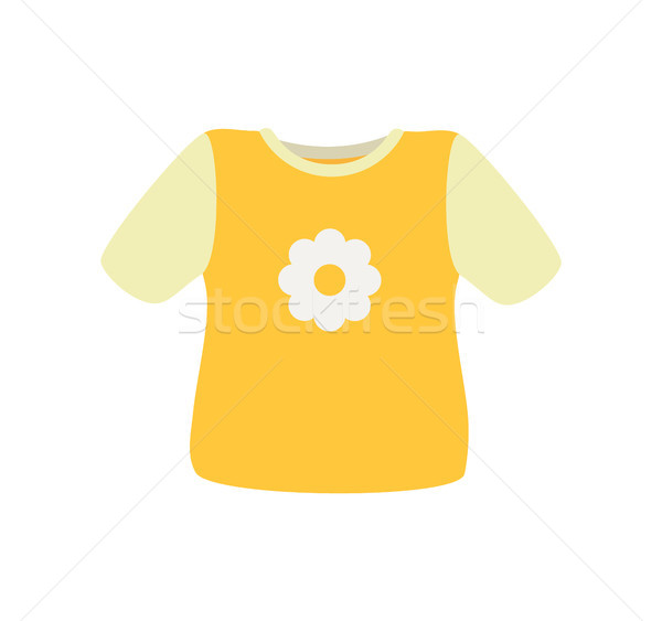 Baby Clothes Sweater Poster Vector Illustration Stock photo © robuart