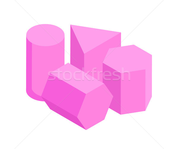 Set of Same Color Geometric Figures, Vector Banner Stock photo © robuart