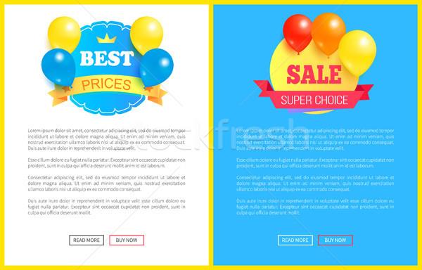 özel indirim hafta sonu satış en iyi balonlar Stok fotoğraf © robuart