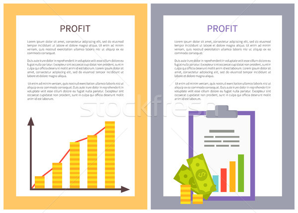 Profit Statistics Colorful Vector Illustration Stock photo © robuart