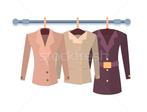 Set of Women Jacket Outer Garment Vector New Items Stock photo © robuart