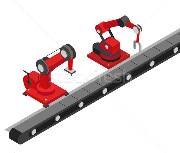 Modern Product Line of Contemporary Factory Image Stock photo © robuart