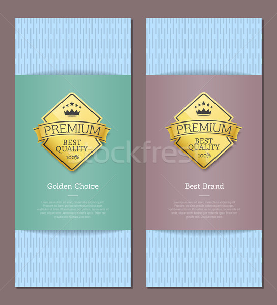 Best Premium Brand Quality and Golden Choice Cards Stock photo © robuart
