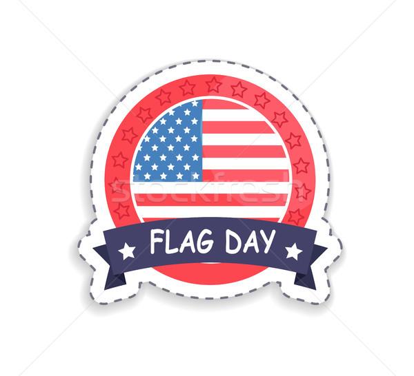 Pavillon jour badge titre patriotique célébration Photo stock © robuart