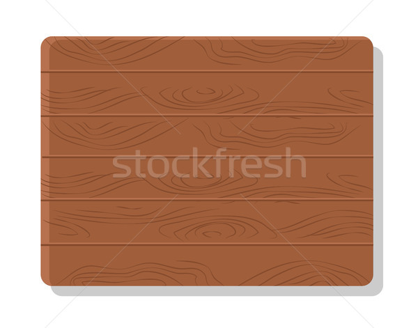 Wooden Board Vector Illustration Isolated on White Stock photo © robuart