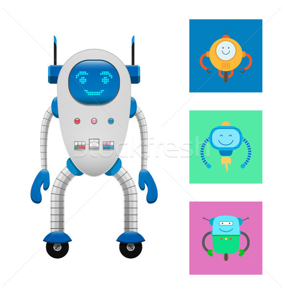 Technological Elements Set Vector Illustration Stock photo © robuart