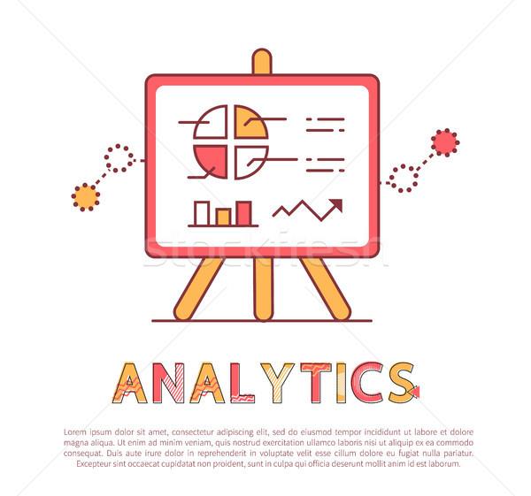 Analytics affiche texte échantillon tarte Photo stock © robuart