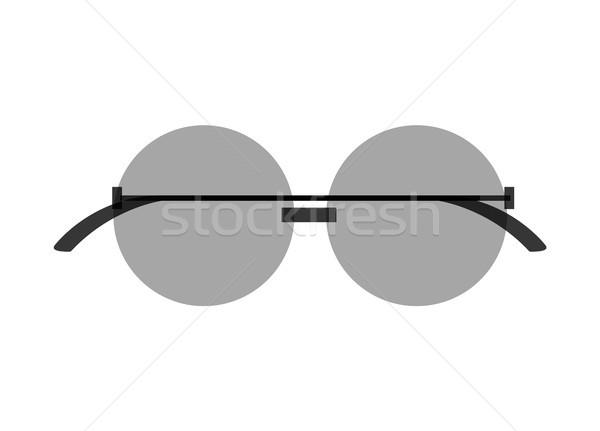 Stylish Round Sunglasses with Tinted Black Lenses Stock photo © robuart