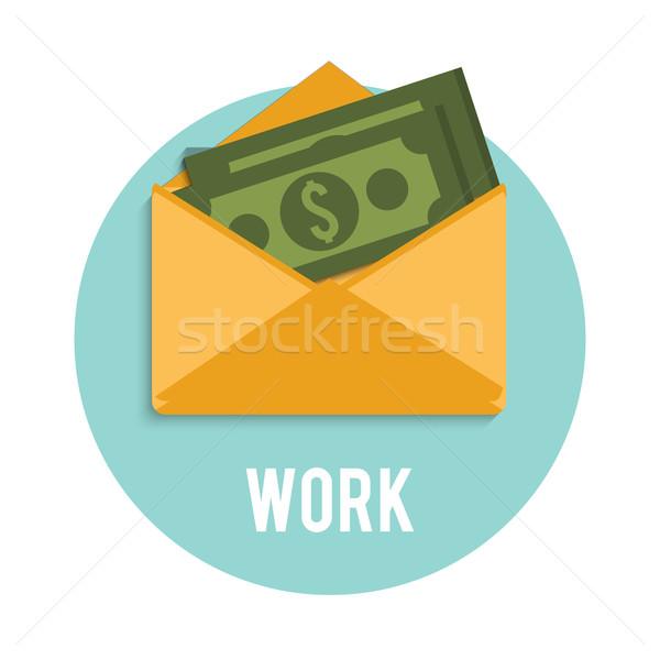 Money dollar bills in an open envelope Stock photo © robuart