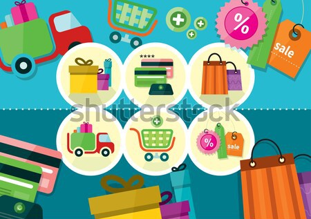 Internet shopping process delivery Stock photo © robuart