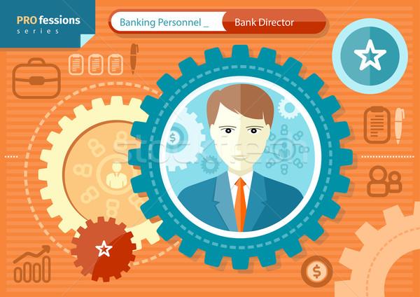 Erkek banka yönetmen meslek bankacılık personel Stok fotoğraf © robuart