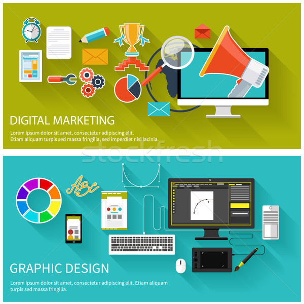 Digital marketing concept. Graphic design Stock photo © robuart