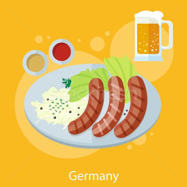 啤酒節 德國 食品 集 設計 分子 商業照片 © robuart