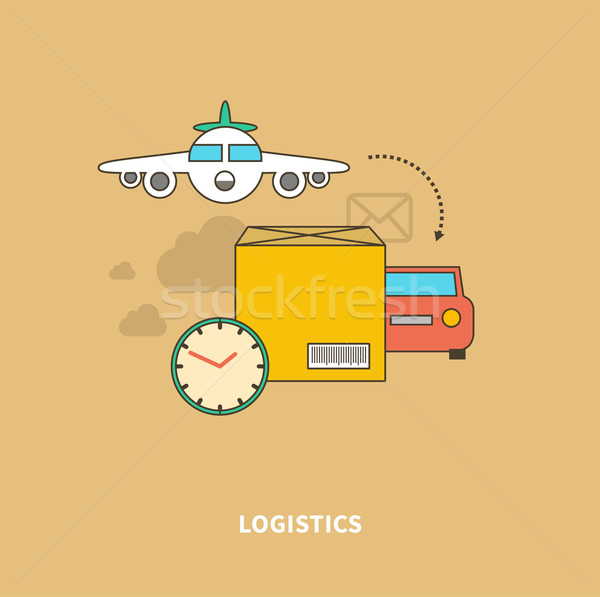 Timely Delivery Important Part of Logistics Chain Stock photo © robuart