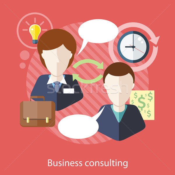 Businessman and Consultant with Speech Bubbles Stock photo © robuart