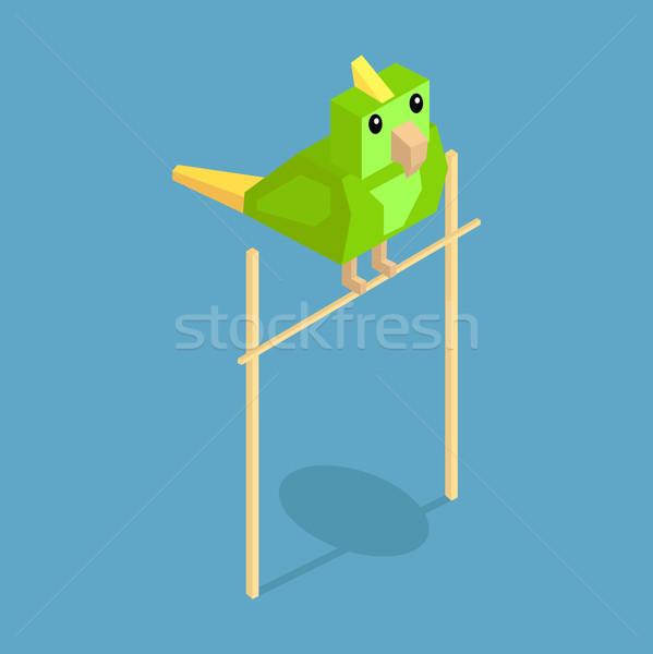 Zwierzęta papuga ikona izometryczny 3D projektu Zdjęcia stock © robuart