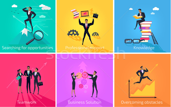 Business Banner Teamwork and Solution Stock photo © robuart