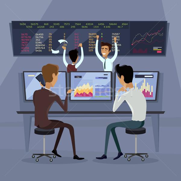 Business Team Work Success Concept Vector Stock photo © robuart
