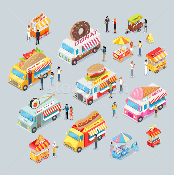 Cars for Sale Food and Drink. Shop on Wheels. Stock photo © robuart