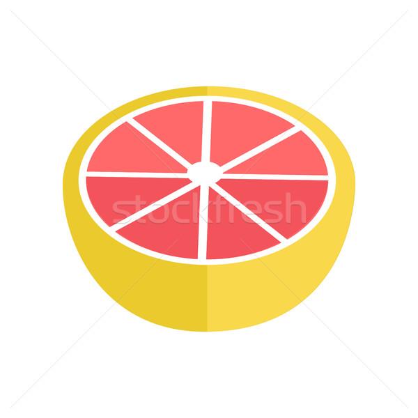 Foto stock: Toranja · estilo · projeto · vetor · fruto · ilustração