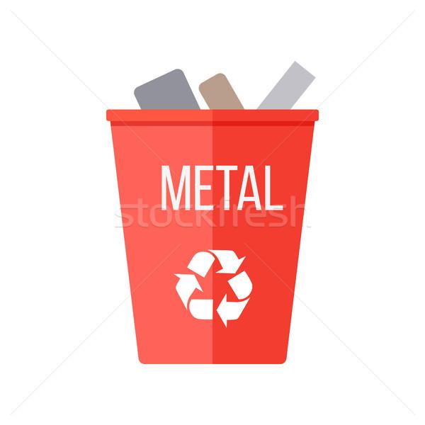 赤 リサイクル ごみ 金属 シンボル ストックフォト © robuart