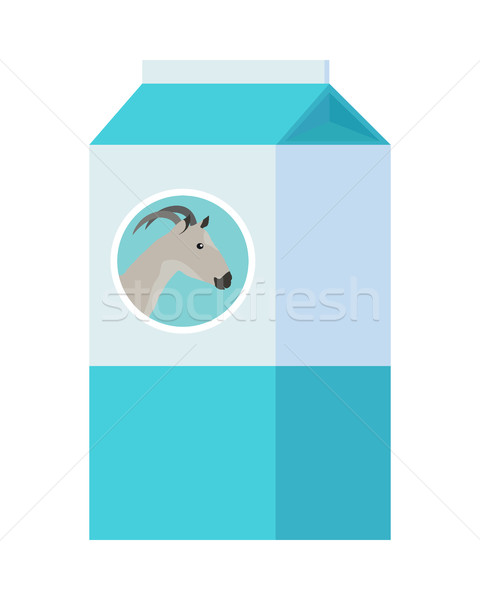 Goat Milk in Carton Paper Box Isolated on White. Stock photo © robuart