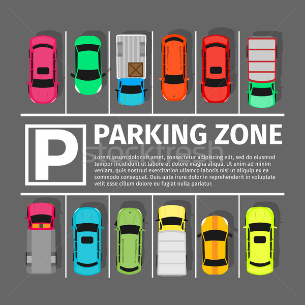 Parking Zone Conceptual Web Banner. Vector Stock photo © robuart