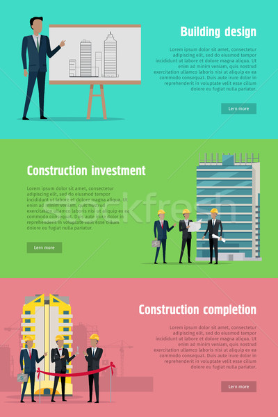 Building Design Construction Investment Completion Stock photo © robuart