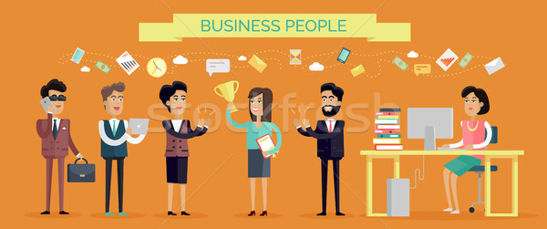 Business People Concept Vector in Flat Design Stock photo © robuart