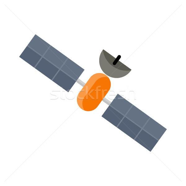 Uzay uydu yalıtılmış beyaz istasyon Stok fotoğraf © robuart