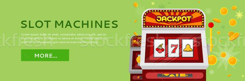 Játékautomata háló szalag izolált zöld egy Stock fotó © robuart