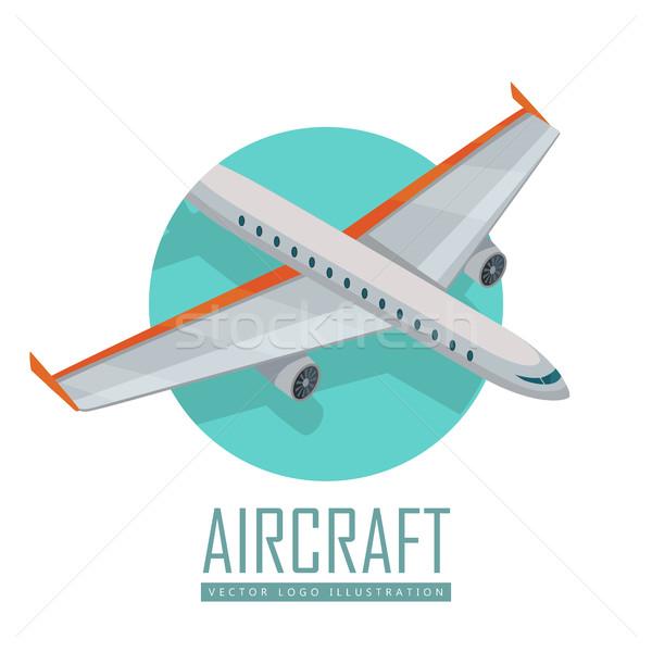 Uçak vektör simgesi izometrik projeksiyon ikon uçak Stok fotoğraf © robuart