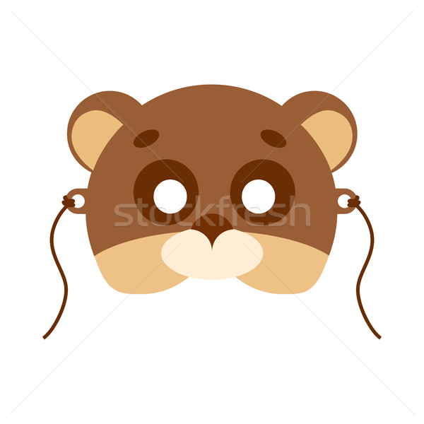 Bear Animal Carnival Mask. Brown and Beige Teddy Stock photo © robuart
