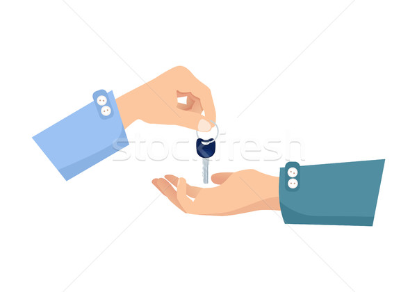 One Hand Giving Key to Another. Process of Buying Stock photo © robuart